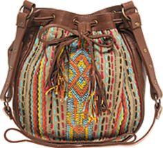 Warehouse Leather Aztec Bag