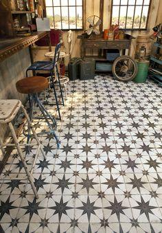 TILE DEALS / SAMPLES: Costa Granada Black White Victorian Moroccan ...