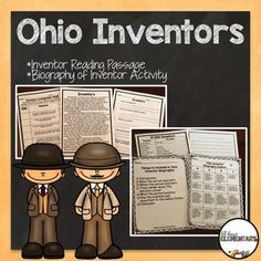 Ohio Inventors - Use this 15 page resource with your 4th, 5th, or 6th grade classroom or home school students. You'll receive a reading passage, research project, close read symbol cards, anticipation guide, and biography activity to help your fourth, fifth, or sixth graders learn about Ohio inventors. It's great for your Ohio learning standards when teaching history in your social studies class. You need this lesson unit now!