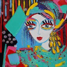 La bohémienne - 50 x 50 cm - Huile sur toile