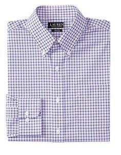 Lauren Ralph Lauren Slim-Fit Checked Dress Shirt Men's Pink 14.5-32/33