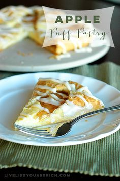 Cream Cheese Apple Puff Pastry Recipe- An impressive long-time-family-loved dessert! Easy to follow step-by-step instructions!