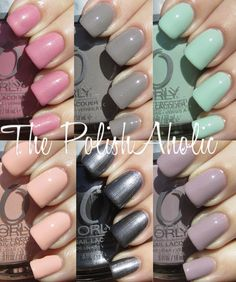 Orly Spring 2012 Cool Romance Collection Swatches
