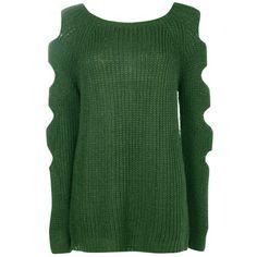 Boohoo Ashleigh Slash Sleeve Jumper | Boohoo ($36) ❤ liked on Polyvore featuring tops, sweaters, sleeve sweater, slash top, green top, jumpers sweaters and green sweater