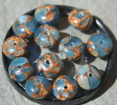 12 rondelle golden agate quartz beads by debsdesigns401 on Etsy