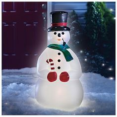 Lighted Snowman - Shop Stoneberry on Credit