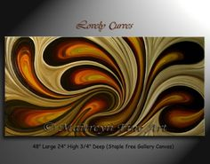 Lovely Curves - abstract wall art