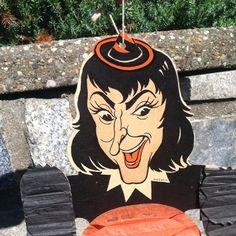 Vintage,Halloween,Honeycomb,witch,Hanging,Tissue | eBay