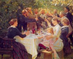 """Hip Hip Hurra!"" - Peder Severin Kroyer (1851-1909)"