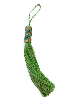 Hand Beaded Tassel Lime - ZINK Everyday