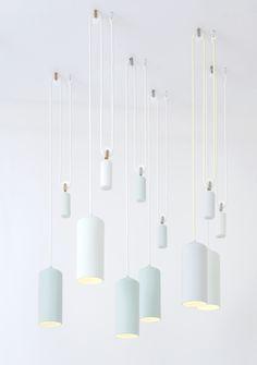 Porcelain Lamp design by Studio WM. Interior Lighting, Home Lighting, Lighting Design, Modern Lighting, Deco Luminaire, Luminaire Design, Pendant Lamp, Pendant Lighting, Chandelier