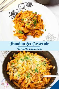 This hamburger casserole is like eating a cheeseburger with pasta. Made on the stovetop in one pot and in under 30 minutes. Yes, the pasta cooks in the same pan. Absolute comfort food with minimal effort #hamburgercasserole #hamburger #casserole #groundbeefcasserole #easycasserolerecipes #groundbeefrecipes #burgercasserole #burger #beefwithpaste #groundbeefpasta Hamburger Casserole, Ground Beef Casserole, Cheap Casserole Recipes, Ground Beef Pasta, Olive Bread, Saute Onions, Ground Beef Recipes, How To Cook Pasta, Effort
