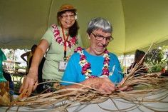 lauhala hats from hawaii | Lum as she begins weaving a lauhala hat during the 17th annual Lauhala ...