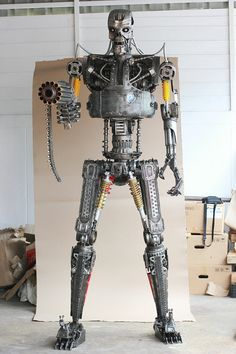2.20 Metre7.2ft Metal art sculpture Robot Movie door Mari9art