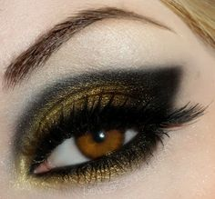 gold and black cat eye. pretty!