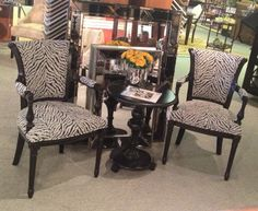 Let's go wild.  Great accent chairs.