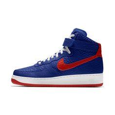 Nike Air Force 1 High Premium iD (Philadelphia 76ers) Men's Shoe Size 12.5 (Blue)