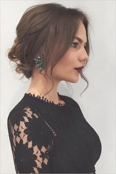 Semi Formal Hair Up Do For Winter Parties