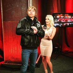 Dean Ambrose & Renee Young