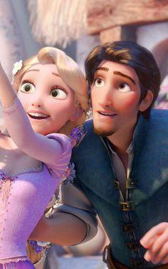 Disney Rapunzel, Rapunzel Y Flynn, Rapunzel And Eugene, Princess Rapunzel, Flynn Rider And Rapunzel, Princess Disney, Disney Couples, Disney Love, Disney Art