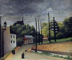 View of Malakoff : Henri Rousseau : Museum Art Images Henri Rousseau Paintings, Art Moderne, Naive Art, French Artists, Art Plastique, Art Images, Bing Images, Les Oeuvres, Landscape Paintings