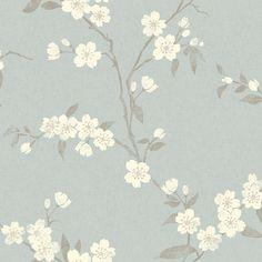 Buy John Lewis Cherry Blossom Wallpaper, Eau De Nil Online at johnlewis.com
