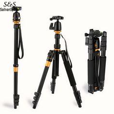 2016 Professional Photographic Portable Tripod To Monopod+Ball Head For Digital SLR DSLR Camera Fold 35cm Max Loading US58