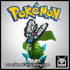 This is a Butterfree Hair Clip (Pokemon) I made in the cool new 3d perlerbead art style!   Products are made to order and do take about a week to make depending on the order.  Please Like Voxel on Facebook! http://facebook.com/voxelperlers  (These products are for sale, therefore I do not ...