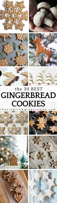 What to Bake Now: Gingerbread Cookies ~ they can be deep, dark, and chewy, or light and crisp ~ they can be frosted, glazed, sprinkled or plain ~ but whichever way you roll, gingerbread is the cookie of the moment ~ here are the 30 best gingerbread cookie recipes to get you started. #cookies #Christmascookies #holidaycookies #dessert #bestgingerbreadrecipe #gingerbread #cookieswap #speculoos #speculaas #germancookies #cutoutcookies