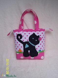8303dcb638 Lányka tatyó ( rózsaszín pöttyös, cicás ! cipzáras (ennavel