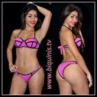 Biquíni IT GIRL 3D com bojo pink Ref.12147 Tamanho P.