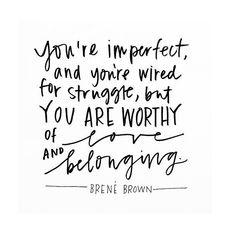 Brene Brown Quote on www.oreosandredwine.com