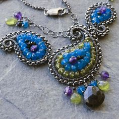 Peacock paisley #necklace