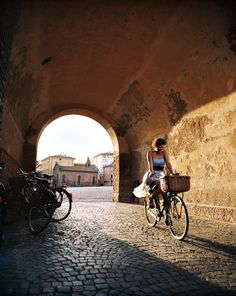 Despite paved-stone streets dating to the fifteenth century, Ferrara has more bicycles than people. In Europe, only Copenhagen has more.