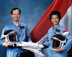 indonesian astronout. 1985.