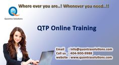 QTP online training offered by Quontra Solutions with special features having Extensive Training will be in both QTP Online Training and Placement.  We help you in resume preparation and conducting Mock Interviews.        Emphasis is given on important topics that were required and mostly used in real time projects. Quontra Solutions is an Online Training Leader when it comes to high-end effective and efficient IT Training.