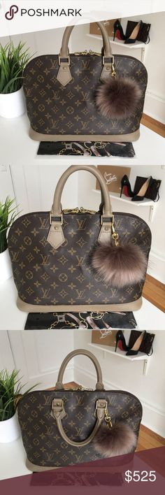 00d04b7304cf Women s Bags   Handbags · Authentic Louis Vuitton Alma This Authentic Louis  Vuitton Alma has been updated by painting the original