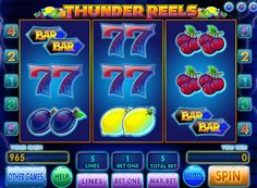 "Thunder Reels slots play for money. Online slot Thunder Reels promoted by GloboTech and its prototype is the classic ""one-armed bandit."" The developers have improved animation and graphic design, while leaving the intuitive interface and simple rules. It has 3 reels and 5 paylines, the number of which can not be changed, so that for"