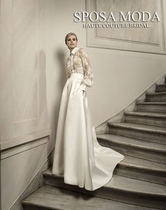 5defe8bc8aa7 Each Sposa mModa wedding dress is a work of art ! Bridal Shirts