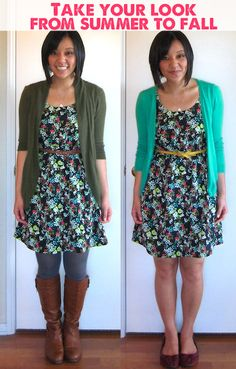 Great tips on how to stretch your summer wardrobe in the cooler months.
