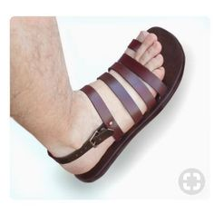 Leather Hand made Sandals for Men and Women-Color by LeatherD Leather Slippers, Mens Slippers, Leather Men, Leather Shoes, Leather Sandals For Men, Soft Leather, Strap Sandals, Shoes Sandals, Mens Beach Shoes