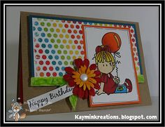 Sweet Birthday Card using Bugaboo Brat from Bugaboostamps.com