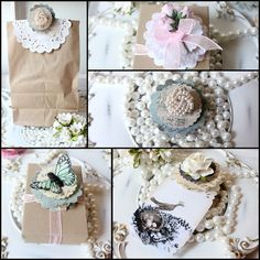 Good Morning and Here's a Little Tutorial for you! Some Little Pretties to decorate your packages!