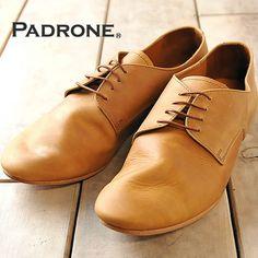 【楽天市場】【PADRONE パドローネ】送料無料!シワ感のあるタンニン鞣しのキップレザーを使用したプレーントゥシューズ DERBY DANCE SHOES AP8185-2001 メンズ 革靴 日本製 パドロネ:GEO style