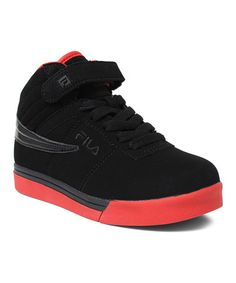 Take a look at this Black  amp  Chred Vulc 13 Hi-Top Sneaker by eaaf3fd064