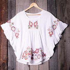 Cupshe Who Rose There Embroidered Top