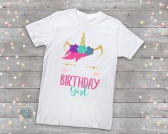 Girls Unicorn Shirt-Unicorn Birthday Shirt-Personalized Unicorn Shirt-Monogram Unicorn Shirt-Unicorn Party Outfit-Unicorn Birthday Party by DesignsByANM on Etsy