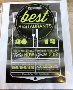 Lost Type co-op fonts: Pittsburrgh restaurant poll poster design