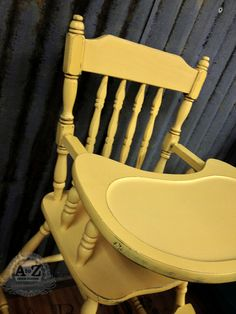 Custom Painted High Chair  Websters Chalk Paint Powder And Benjamin Mooreu0027s  Firefly, Sealed With