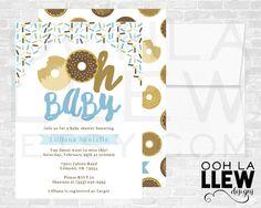 Donut Invitation, Donut Baby Shower, Donut Invitations, Donut Invites, Donut Baby Shower Invitations, Donut Party - Donut Baby Shower Invite